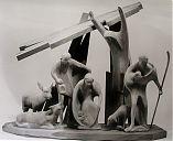 Altes Eichenholz, Figurengröße 25 cm